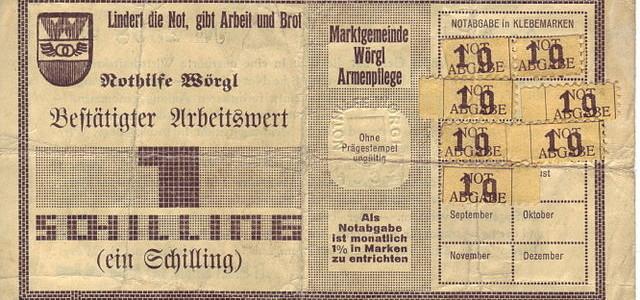 Historie lokálních měn: Zázrak z Wörglu